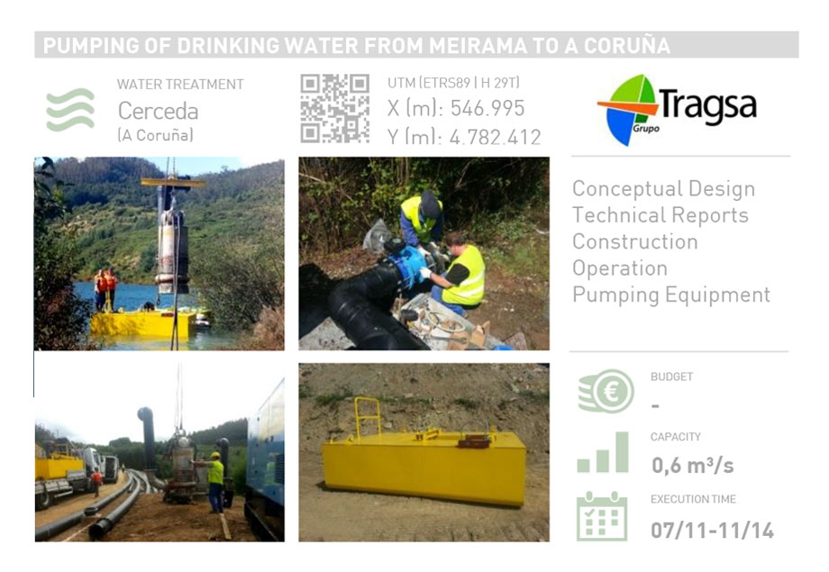 PUMPING OF DRINKING WATER FROM MEIRAMA POND TO A CORUÑA