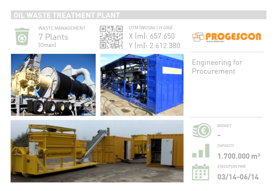 OIL WASTE TREATMENT PLANT